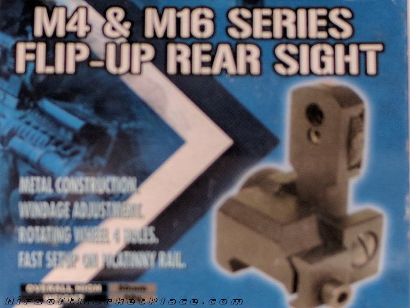 M4 & M16 Flip up Rear Sight