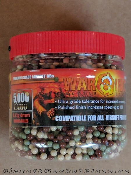 WAR INC 5000 CT .12GM CAMO BB