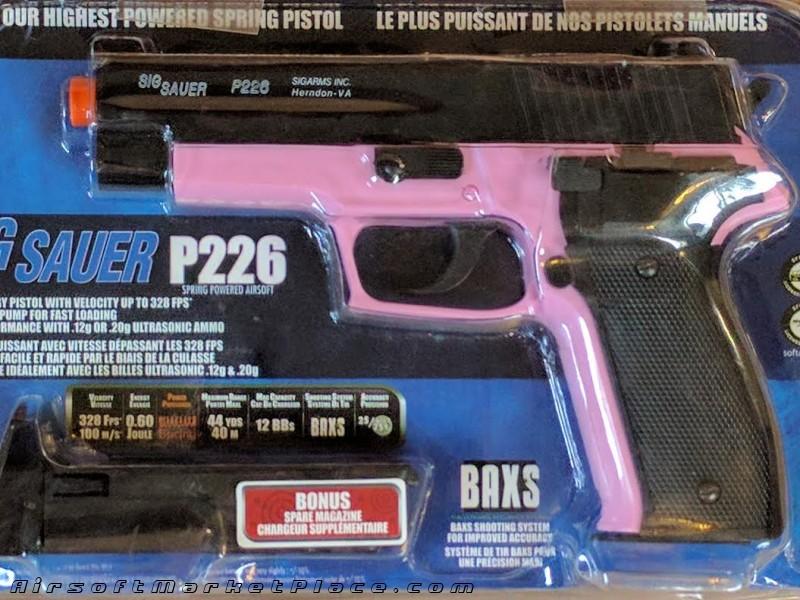 SIG SAUER P226 PINK/BLACK