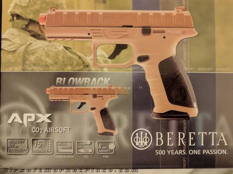 BERETTA APX CO2 BLOWBACK FDE