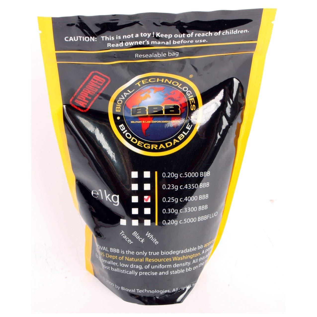 Bioval 0.25-gram Airsoft BBs 4000-ct. Bag