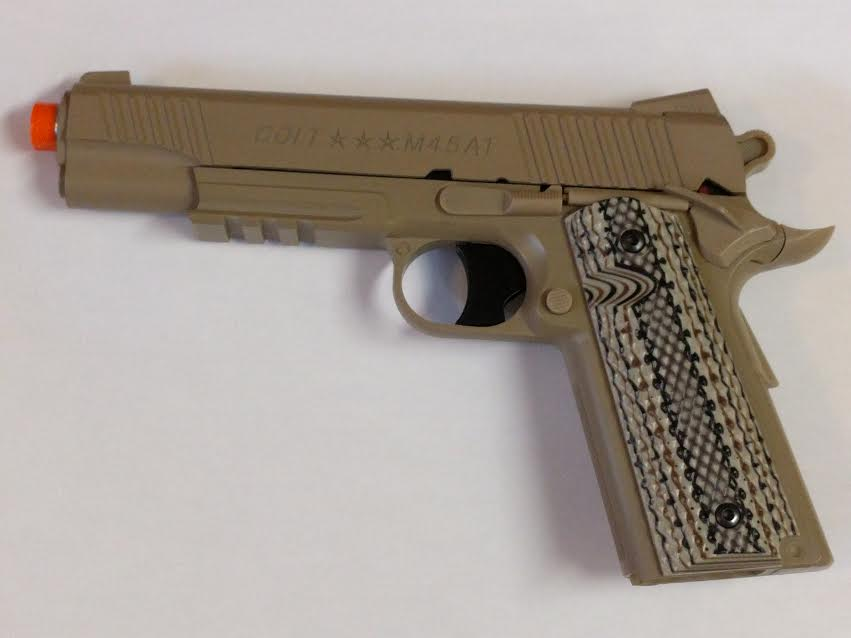 COLT 1911 RAIL GUN CO2 NON BLOW BACK