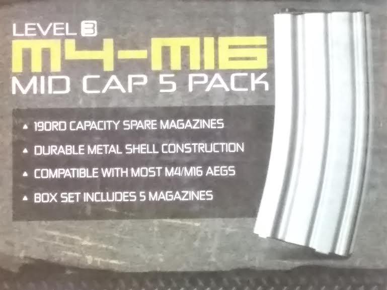FIREPOWER M4-M16 MID CAP 5 PACK