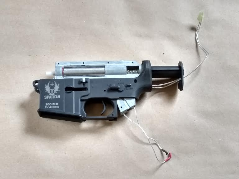 SPARTAN 300 BLK LOWER RECEIVER WITH GEAR BOX