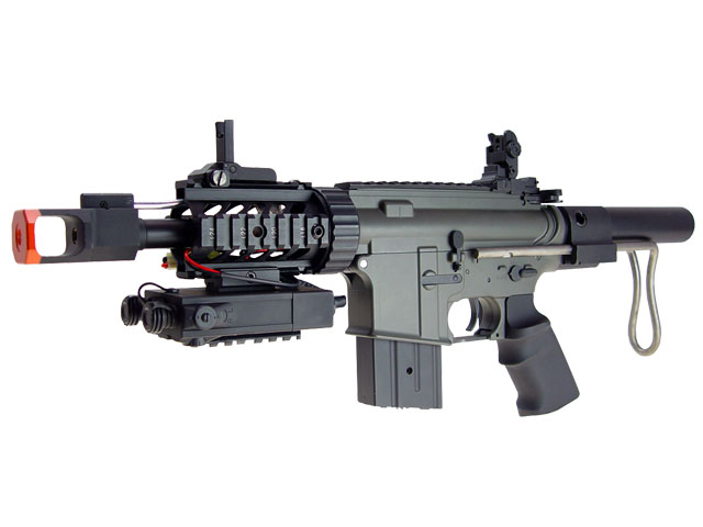 JG M4 CQB AEG w/10.8v PEQ Box Metal Gear Box