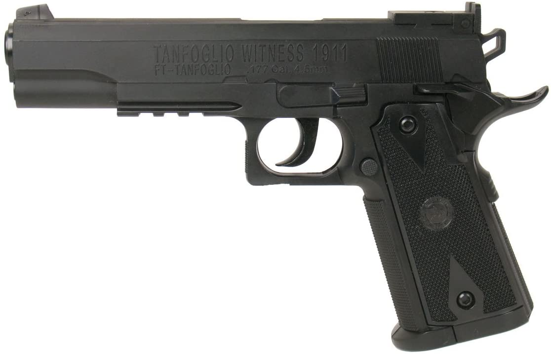 TANFOGLIO WITNESS 1911 CO2 STEEL BB GUN NON BLOW BACK