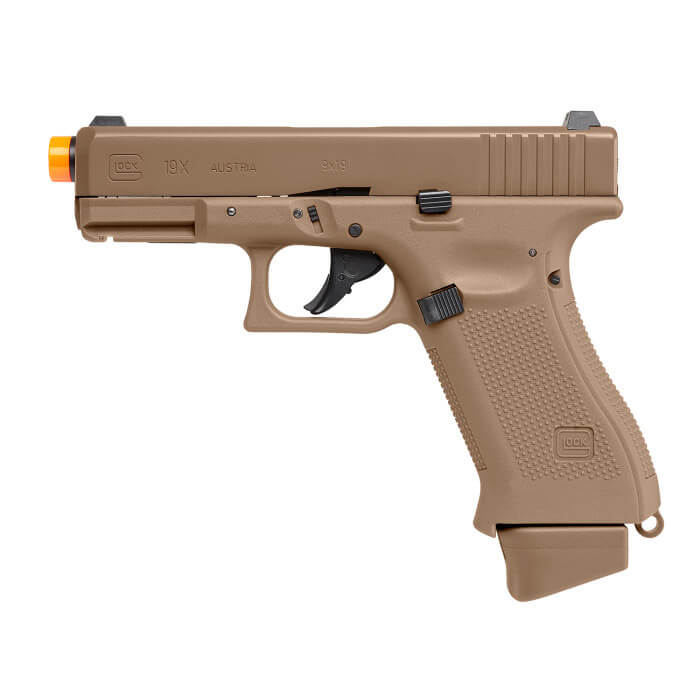 GLOCK G19X CO2 6MM Airsoft Pistol COYOTE : Elite Force