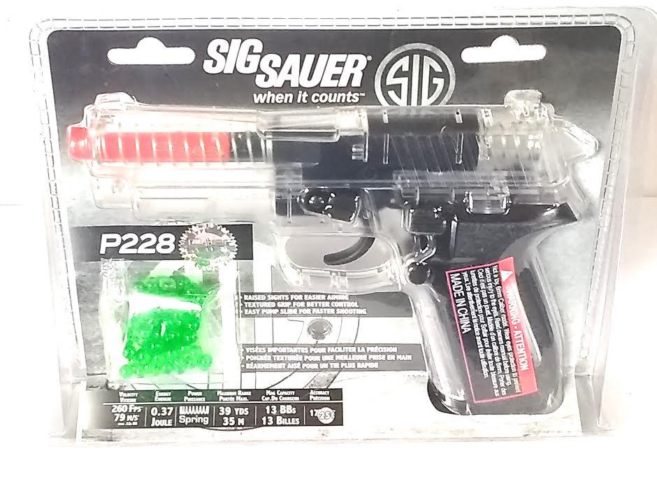 SIG SAUER P228 CLEAR AIRSOFT PISTOL