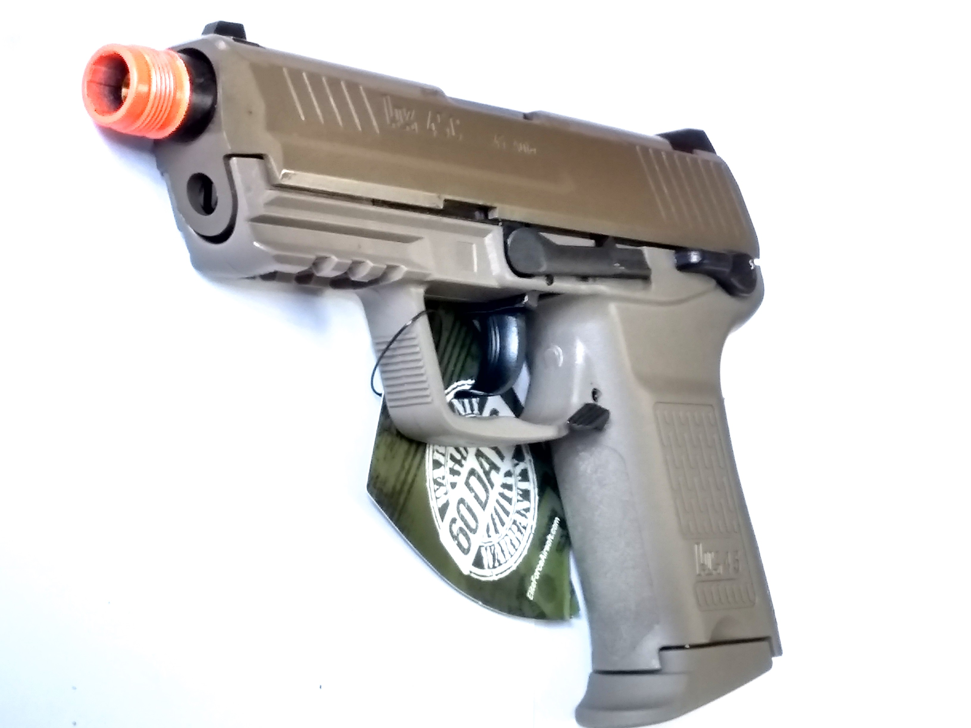 H&K45CT Compact Gas Blowback Airsoft Pistol, Tan