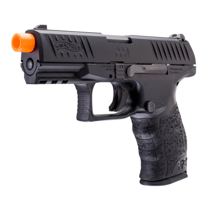 WALTHER PPQ GBB 6mm Black Airsoft Pistol : Elite Force