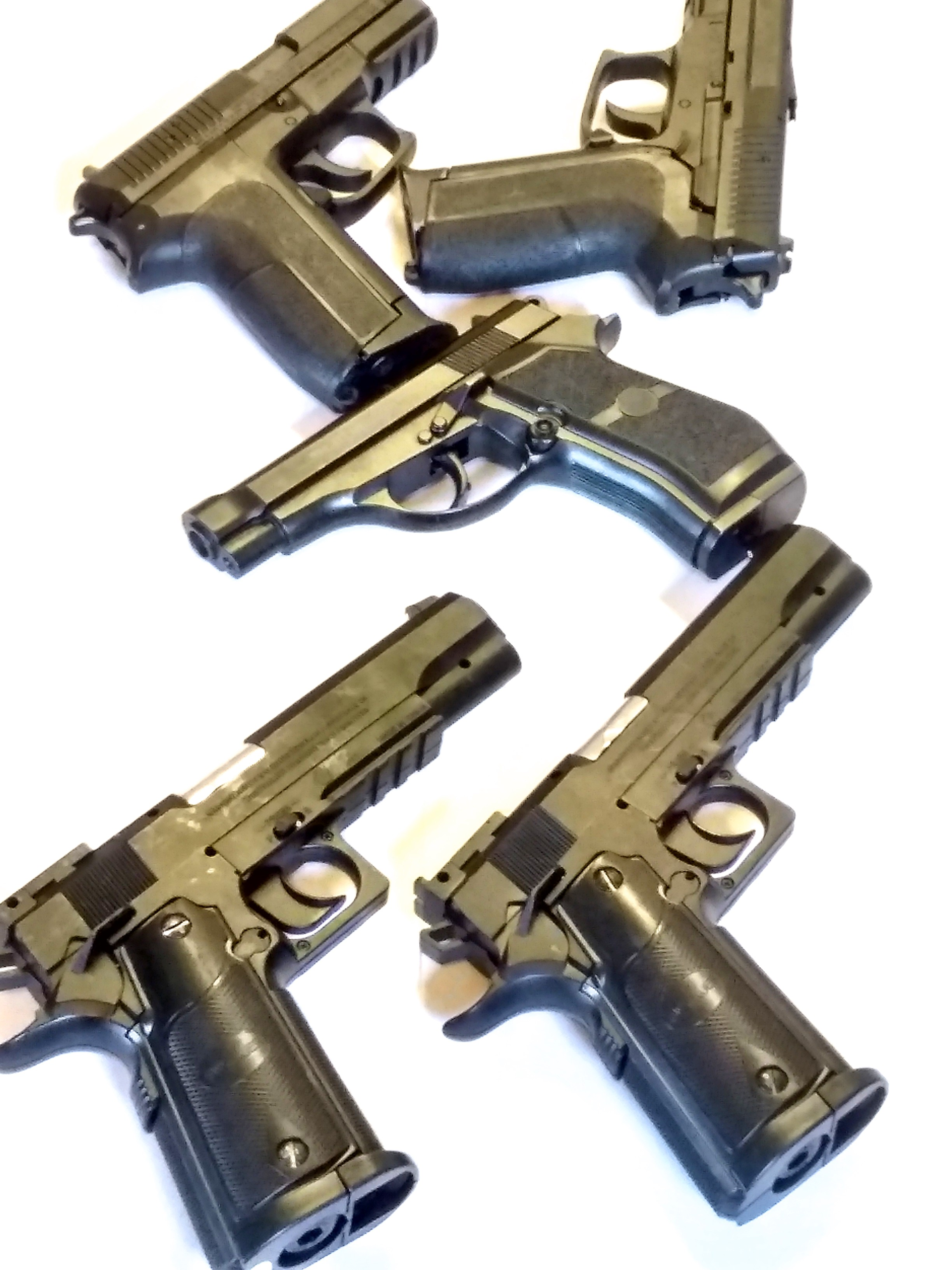 LOT OF 5 CO2 BB PISTOLS FOR REPAIR
