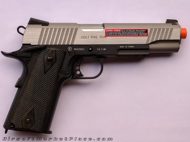 COLT 1911 RAIL GUN CO2 BB