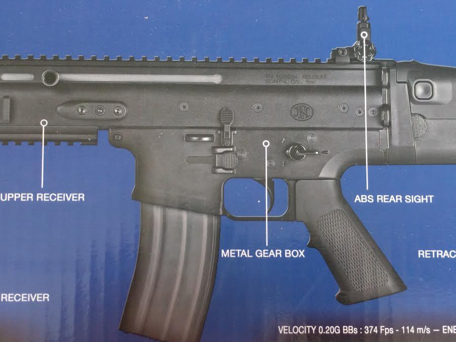 FN Herstal Licensed Polymer SCAR-L Airsoft Rifle Cybergun