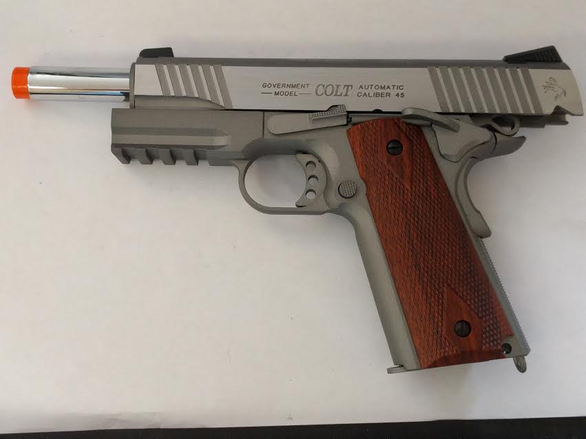 COLT 1911 RAIL GUN SERIES CO2 METAL BLOWBACK