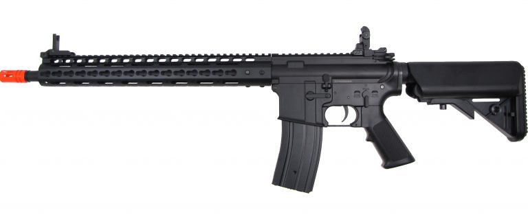 GOLDEN EAGLE M16 Metal RIS w/Keymod Hand Guard /Crane Stock
