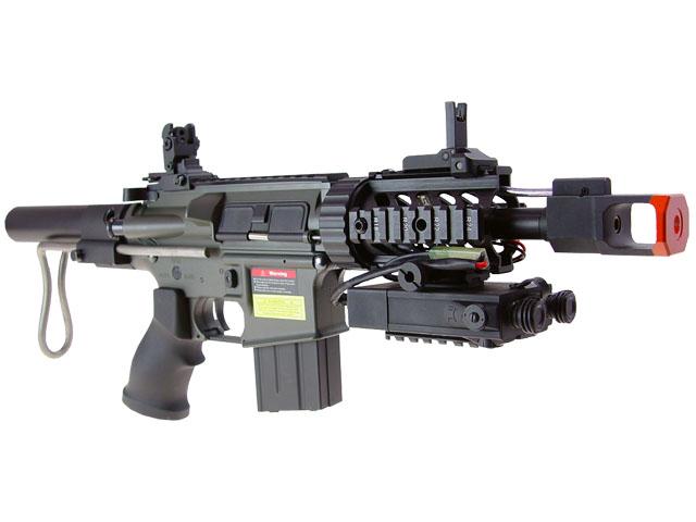 JG M4 CQB AEG w/10.8v PEQ Box Metal Gear Box