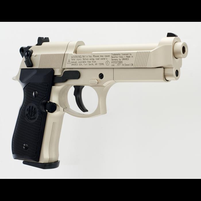 BERETTA M 92 FS NICKEL/BLACK